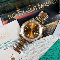Rolex GMT-Master II Zlato/Zeljezo 40mm Smedj Bez brojeva
