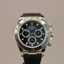 Rolex White gold Automatic Black 40mm pre-owned Daytona
