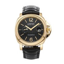 Panerai Luminor Marina Automatic pre-owned 44mm Black Date Crocodile skin