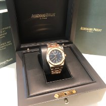 Audemars Piguet Royal Oak Jumbo Or rose 39mm Bleu Sans chiffres