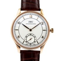 IWC Portuguese Hand-Wound Or rose 44mm Argent