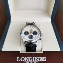 Longines Column-Wheel Chronograph Steel 41mm Silver No numerals
