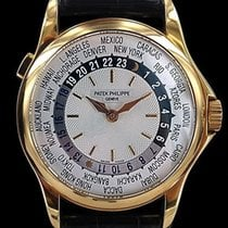 Patek Philippe Yellow gold Automatic Silver 37mm new World Time