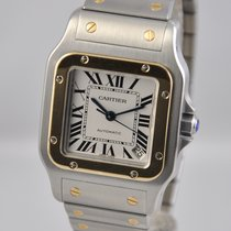 Cartier Santos Galbée Gold/Steel 32mm Silver Roman numerals United States of America, Ohio, Mason