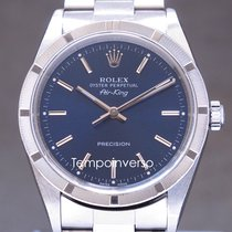 Rolex Air King Precision Steel 34mm Blue No numerals United Kingdom, London Paris & Brussels face to face delivery only - Other destination shipping with Brinks & DHL Express