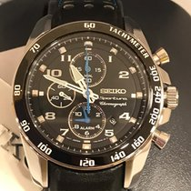 Seiko Sportura Steel 41mm Black