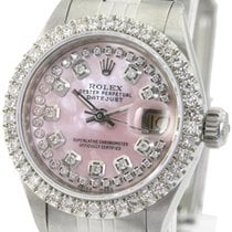 Rolex Lady-Datejust Stal 26mm Srebrny Bez cyfr