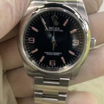 Rolex Oyster Perpetual 36 Staal 36mm Zwart Arabisch