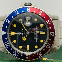 Rolex GMT-Master Zeljezo 40mm Crn Bez brojeva