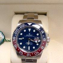 Rolex Or blanc Remontage automatique Bleu Sans chiffres 40mm nouveau GMT-Master II
