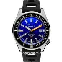 Squale Steel 44mm Automatic 044 Squale Matic Polish Black Blue new