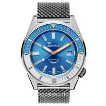 Squale Steel 44mm Automatic 044 Squale Matic Polish Blue new
