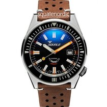 Squale Steel 44mm Automatic 044 Squale Matic Polish Black new