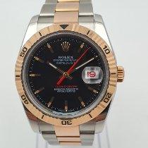 Rolex Datejust Turn-O-Graph Zeljezo 36mm Crn Bez brojeva