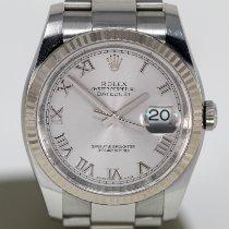 Rolex Datejust Acier 36mm Argent