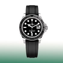 Rolex White gold Automatic Black No numerals 42mm new Yacht-Master 42