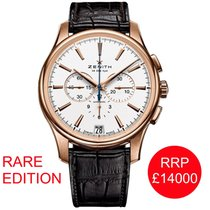 Zenith Captain Chronograph Rose gold 42mm White No numerals