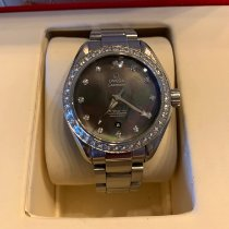 Omega Seamaster Aqua Terra pre-owned 34mm Mother of pearl Date Steel