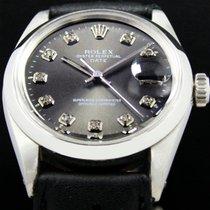 Rolex Oyster Perpetual Date Stahl 34mm Grau Keine Ziffern