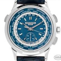 Patek Philippe World Time Chronograph Weißgold 39.5mm Blau Deutschland, Stuttgart