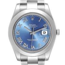 Rolex Datejust II Acier 41mm Bleu Romains