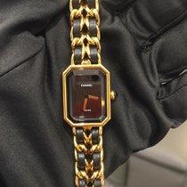 Chanel Première Or jaune 26mm Noir Sans chiffres