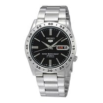 Seiko 5 Steel 37mm Black