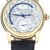 Frederique Constant Manufacture Worldtimer Rose gold 42mm White United States of America, Illinois, BUFFALO GROVE