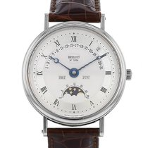 Breguet White gold Automatic Silver Roman numerals 36mm pre-owned Classique Complications