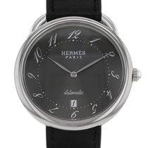 Hermès Arceau Stahl 41mm Grau Arabisch