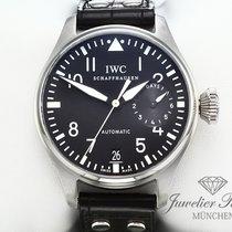 IWC Große Fliegeruhr gebraucht 46mm Schwarz Datum Leder