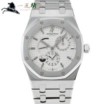 Audemars Piguet Royal Oak Dual Time pre-owned 39mm White Steel