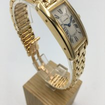 Cartier Tank Américaine Or jaune 19mm Blanc Romain Belgique, Antwerpen