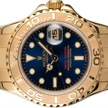 Rolex Yacht-Master Geelgoud 29mm Blauw Geen cijfers