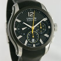 Union Glashütte Belisar Chronograph Otel 43mm Negru