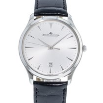 Jaeger-LeCoultre Master Ultra Thin Date pre-owned 40mm Silver Date Leather
