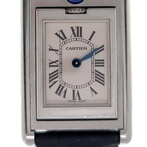 Cartier Steel Champagne 22mm pre-owned Tank (submodel)
