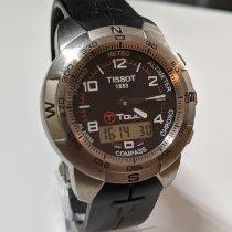 Tissot T-Touch Expert gebraucht 38mm Chronograph Datum Wochentagsanzeige Monatsanzeige Jahresanzeige Wecker Kautschuk