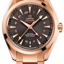 Omega Rose gold Grey 43mm new Seamaster Aqua Terra