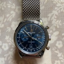 Breitling Transocean Chronograph 38 Steel 38mm Blue No numerals