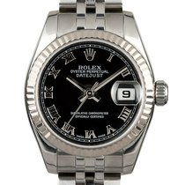 Rolex Lady-Datejust Acero 26mm Negro Romanos