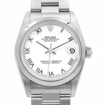 Rolex Lady-Datejust Acier 31mm Blanc Romain