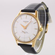 Longines Flagship Heritage Yellow gold 35.5mm No numerals