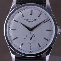 Patek Philippe Calatrava White gold 37mm Silver No numerals