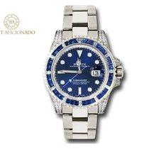 Rolex Witgoud Automatisch Blauw Geen cijfers 40mm tweedehands Submariner