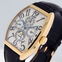 Franck Muller Cintrée Curvex Rose gold 34mm Silver Arabic numerals United States of America, California, Los Angeles