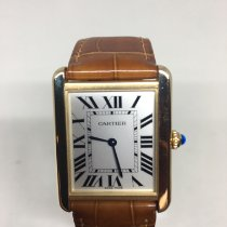 Cartier Tank Solo Yellow gold 34.8mm Silver Roman numerals