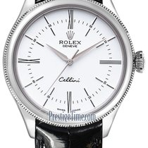 Rolex Cellini Time Oro blanco 39mm Blanco