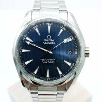 Omega Seamaster Aqua Terra gebraucht 41.5mm Blau Datum Stahl