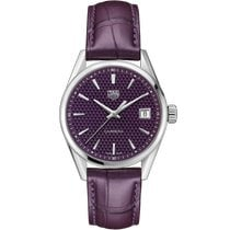 TAG Heuer Carrera Lady Staal 36mm Paars